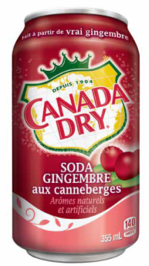 Soda Gingembre Aux Canneberges Canada Dry